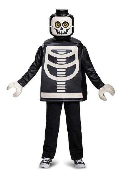 Disfraz De Esqueleto De Lego Talla 10/12 Niños