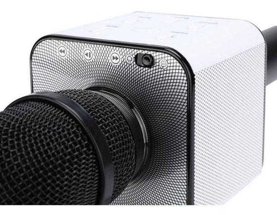 Microfone Karaoke Bluetooth Oex 6w Rms Preto Mk-100