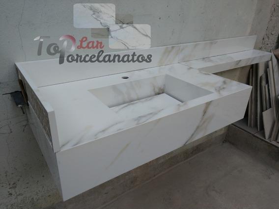 Pia Porcelanato 80x45.saia 15cm
