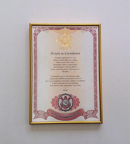 Quadro Oração Do Corinthians - Exclusividade Em Oferta