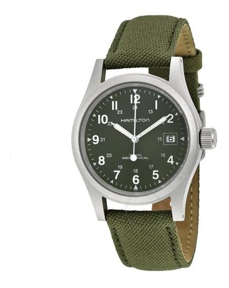 Relógio Hamilton Khaki Verde Dial Mens Watch H69419363
