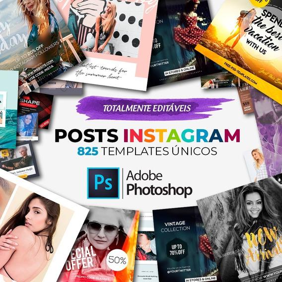 825 Posts Editáveis Para Instagram (photoshop)