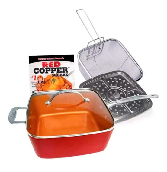 Sartén Antiadherente Cuadrado Aluminio 102347 Red Cooper