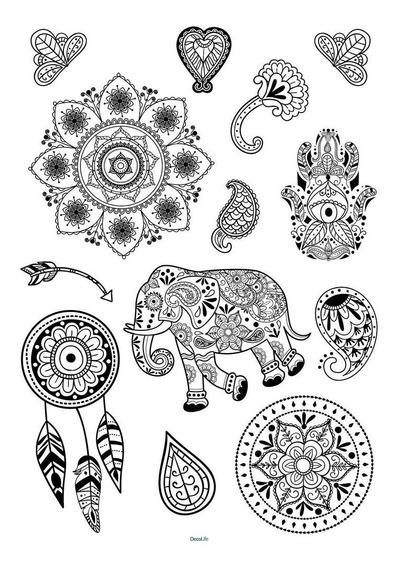 Wallsticker Autoadhesivo Vinilo Muresco Mandala Hindu