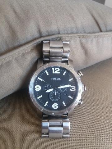 Relógio Fossil - Cronógrafo - Pulseira Aço Escovado