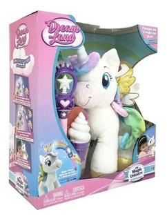 Peluche Mi Unicornio Mágico Dream Land Con Luz Educando Full
