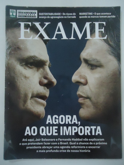 Exame #1171 Eleições Bolsonaro X Haddad