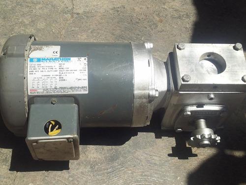 Motor Reductor Marathon Electric, Bva56t17f, 1hp,1725rpm,