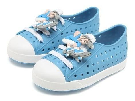 Tênis Infantil Pimpolho Colorê Menino Azul