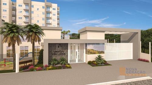 Apartamento Com 2 Dormitórios À Venda, 47 M² Por R$ 163.999,00 - Bela Vista - Caxias Do Sul/rs - Ap0694