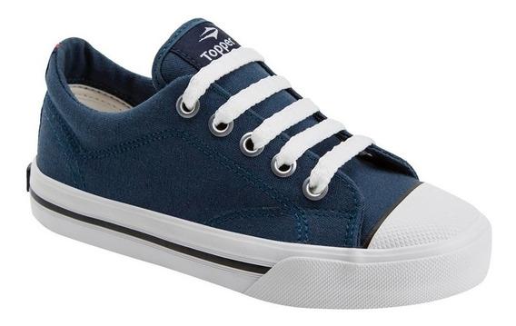 Zapatillas Topper Profesional Niños Azul Original