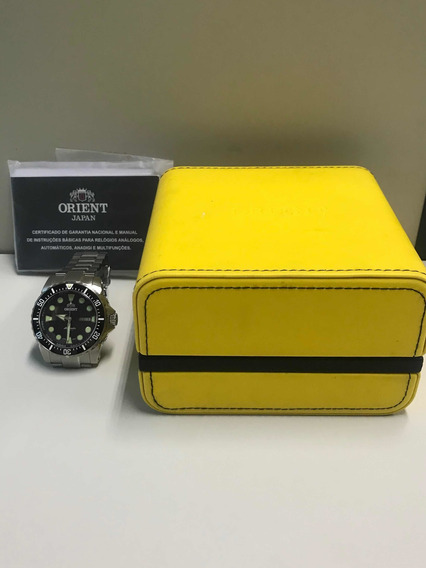Relógio Orient Masculino 469ss073 Preto Scuba 500m Mergulho