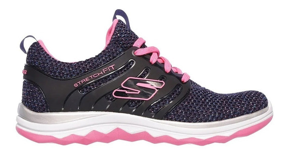Skechers Zapatillas Nena Diamond Runner Jr Marino - Rosa