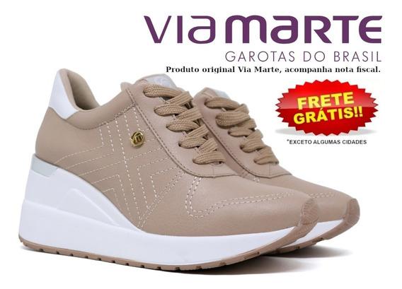 Tênis Feminino Via Marte Anabela Flatform Sneaker 19-12377