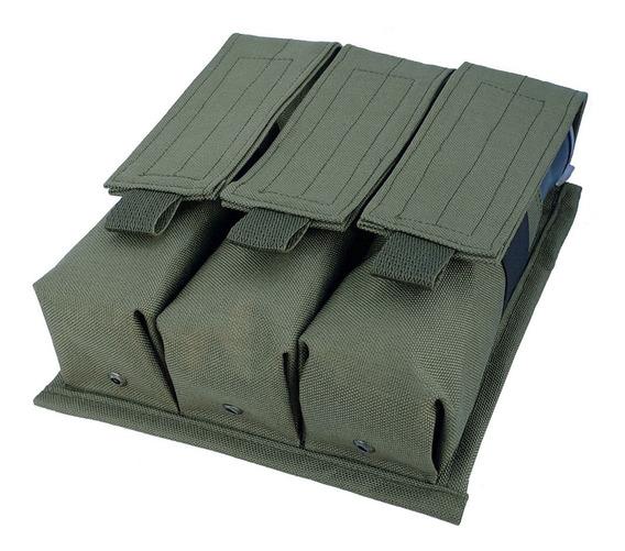 Portapods Triple Sistema Molle Paintball Uso Tacticomilitar