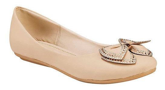 Zapato Piso Mujer Mpink Beige Sint Moño Cerrado C00334 Udt