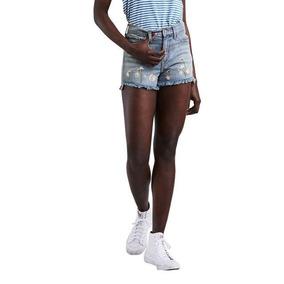 Shorts Jeans Levis High Rise Lavagem Média
