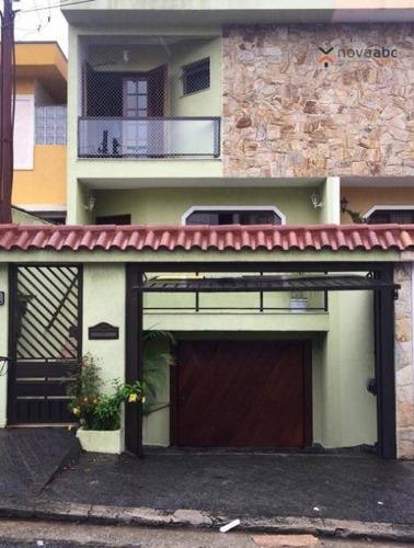 Sobrado Com 3 Dormitórios À Venda, 230 M² Por R$ 795.000 - Vila Scarpelli - Santo André/sp - So0430