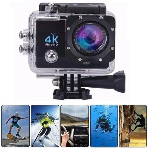 Imagem 1 de 9 de Câmera Ultra 4k Wi-fi Prova D'água Youtuber Bike Moto Trilha