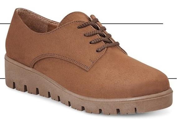 Zapato Gamuza 3 Cm P/dama 89001 Ck O19 Uy4