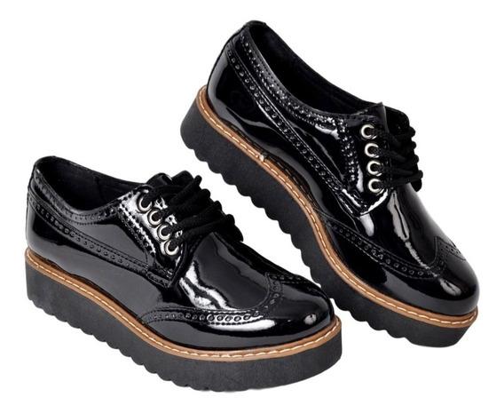 Zapato Charol Dama Savage 55 Con Cordón Super Liviano Moda