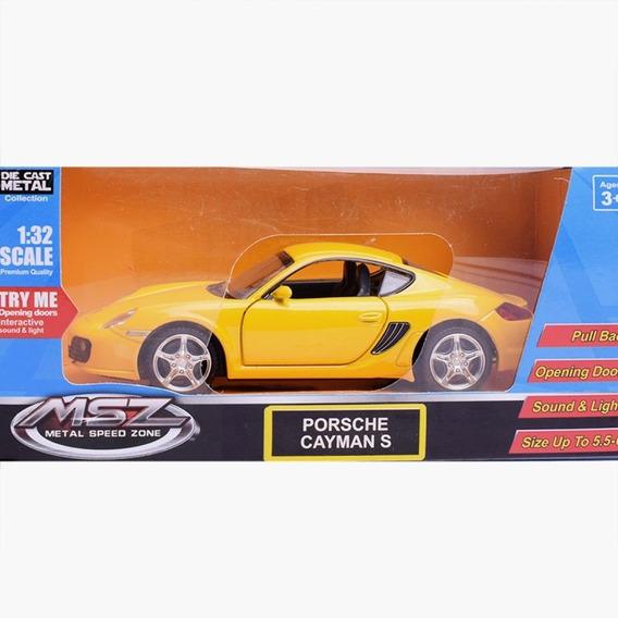 Auto De Colección Porsche Cayman S 1:32 Msz Luz Y Son Full