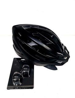 Casco Bicicleta Gw Centipede Mtb Negro Mate + Par Luces Gw