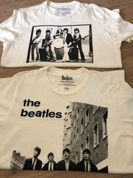 Lote 2 Camisetas Ellus Beatles E Rolling Stones M Off White