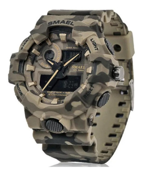 Relógio Masculino Smael Esportivo Camuflado Digital