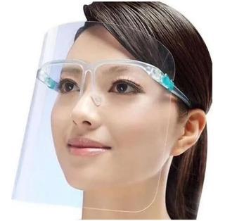 5 Careta Protector Facial Plástico Soporte Marco De Lentes