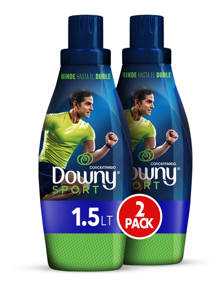 Suavizante Downy Sports 1.5lt, 2 Unidades De 750ml