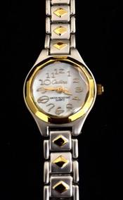 Relógio Feminino Cadina Branco Produto De Mostruário 011