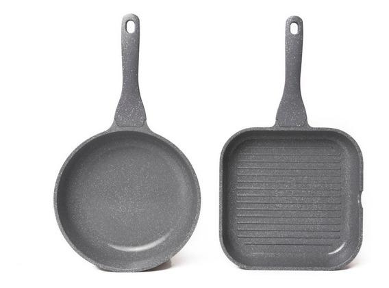 Maestro De Cocina Set Ceramica Sarten Y Grill 24cm