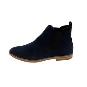 Chelsea Boots Navy Marca Agta Cuero + Envío Gratis