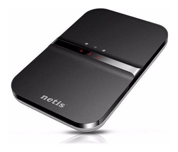 Roteador Portátil Netis 3g Wi-fi 3g20 Sim Card 2.4 Ghz Preto