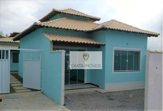 Casas Lineares 02 Quartos No Bairro Residencial Rio Das Ostras. - Ca1012