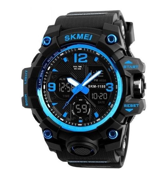 Relógio Analógico E Digital Skmei 1155 Azul