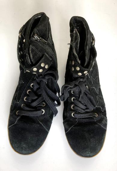 Botas Zapatillas Cuero Numero 38 Tachas Rocker Importadas