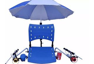 Cadeira Pvc Para Barco De Pesca Completa Com Suportes