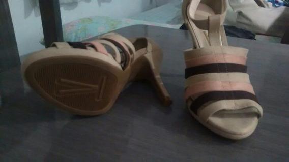 Sapato Vizzano Nude E Salmão Tam 35