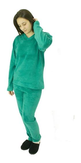 Pijama De Plush Masculino Saída De Banho Esmeralda