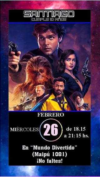 Star Wars Invitación Tarjeta Digital Imprimible Whatsapp