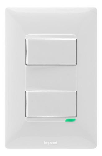 Interruptor Doble Futura Legrand X 10 Unds