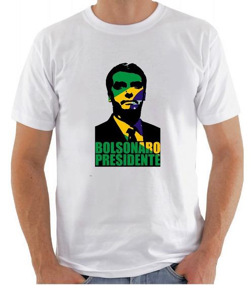 Camiseta Bolsonaro Presidente 2018 Eleição Mito Camisa Brasi