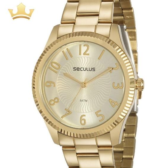 Relógio Seculus Feminino 20568lpsvds1 C/ Garantia E Nf