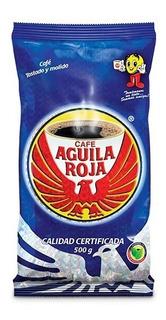 Cafe En Grano Molido Aguila Roja 500 Grs.