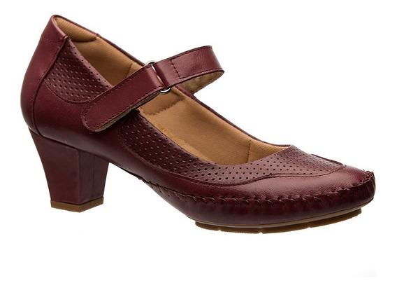 Sapato Feminino 789 Em Couro Amora Doctor Shoes