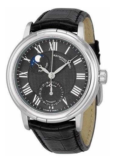 Reloj Raymond Weil Fase Lunar Automático Negro 2839-stc00209