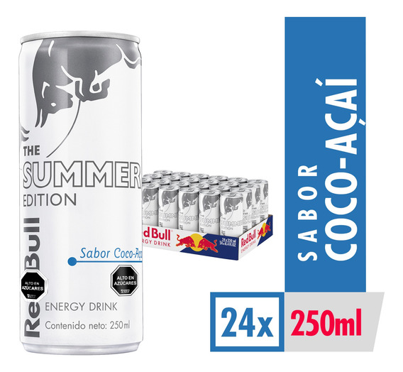 Bebida Energetica Red Bull Summer Edition 24 Latas De 250ml