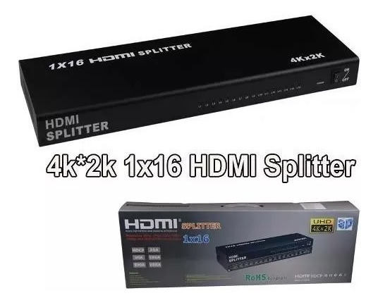 Splitter Distribuidor Divisor Hdmi Hd 16 Canais